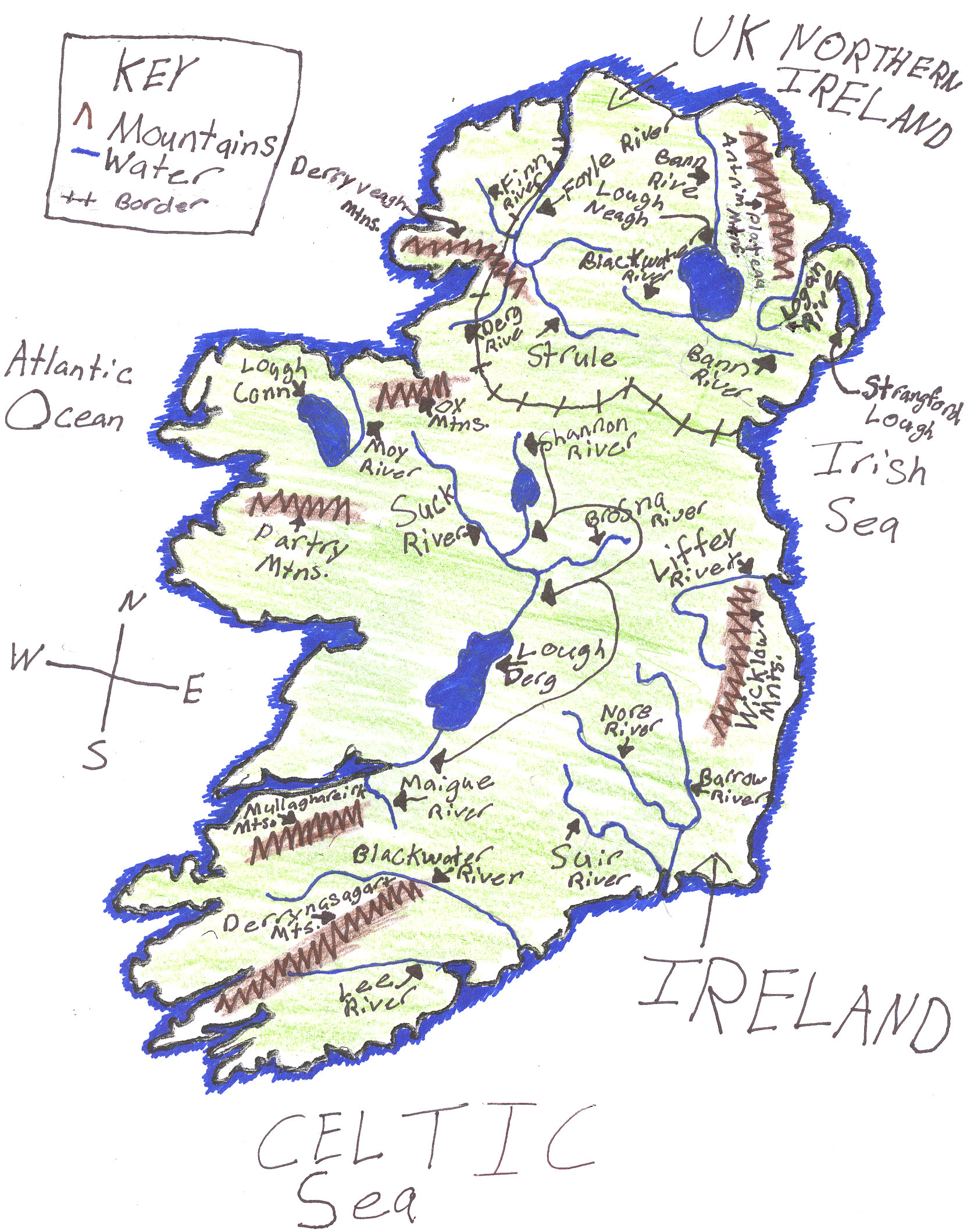 Ljhsldawson licensed for non commercial use only physical map of physical map of ireland gumiabroncs Image collections